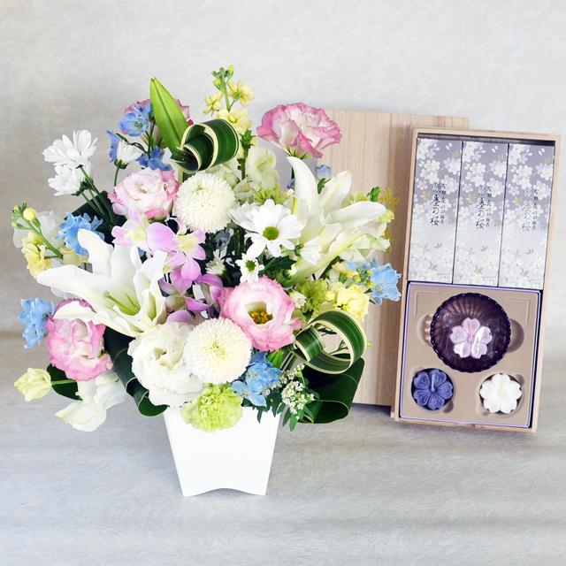 お供え 枕花 白系 日本香堂 宇野千代のお線香 淡墨の桜