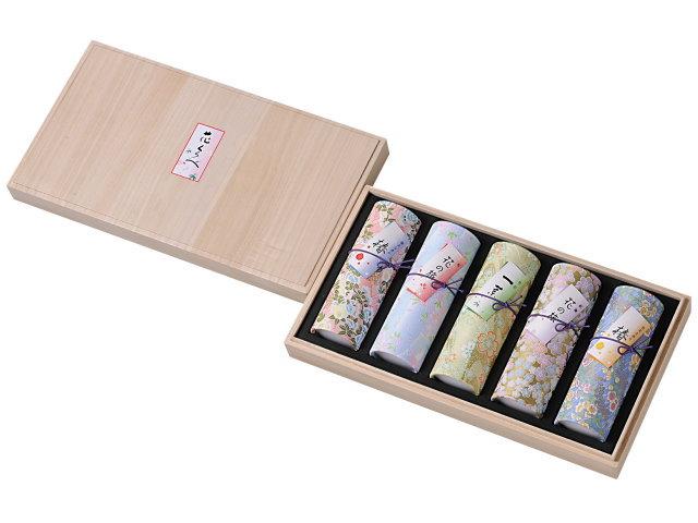 花くらべ 5本入りアソート 椿赤+桜+一葉+紅梅+椿黄(奥野晴明堂)